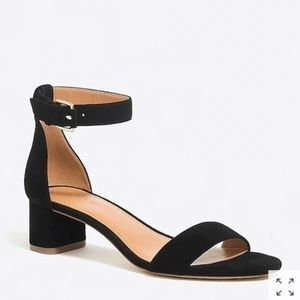 J.Crew Suede block-heel sandals - Black